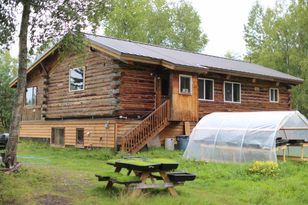 Talkeetna event venue, community space for those enjoying our talkeetna lodging and our alaska farm volunteer and permaculture intern alaska