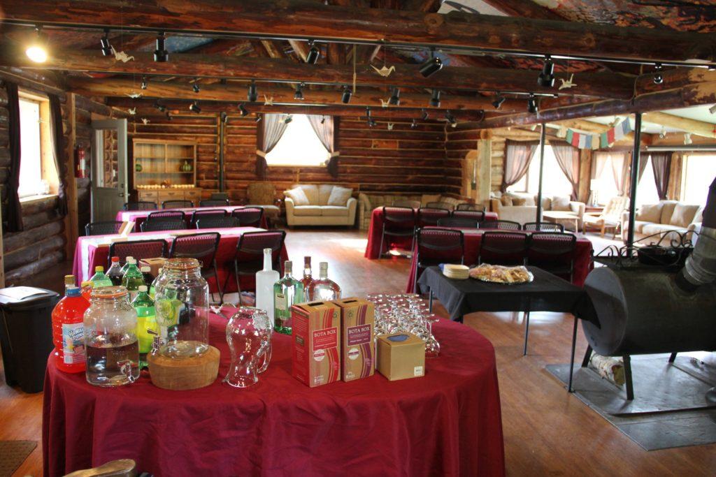 A beautiful, rustic venue in Talkeetna providing a wedding venue in Talkeetna, a retreat center in Talkeetna Alaska, a meeting space in Talkeetna, and a workshop venue in Talkeetna